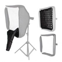 Softbox pliabil 60cm cu patina blitz speedlite si grid