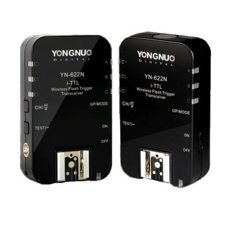 Yongnuo YN622N pt. Nikon Kit 2x Transceiver telecomanda declansator wireless trigger-receiver