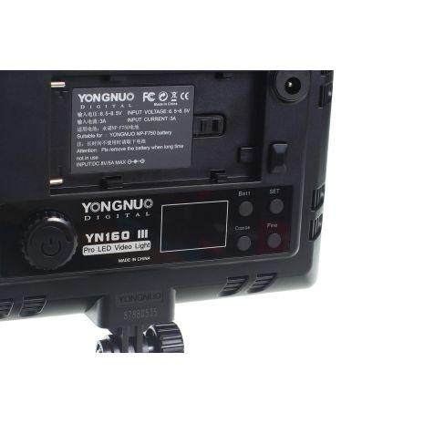Yongnuo YN160 III 5500K Lampa foto-video cu 192 LEDuri CRI 95