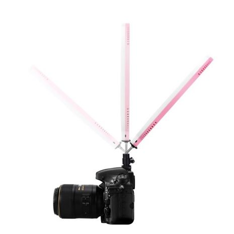 Yongnuo YN128 Lampa circulara roz 128 PRO LED, CRI 95 cu temperatura de culoare reglabila